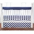 Zig Zag Baby Crib Rail Cover in Navy