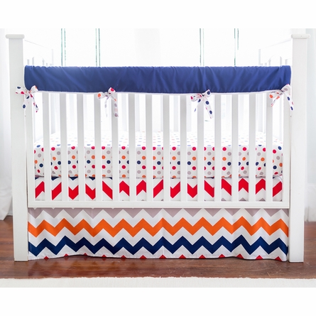 Zig Zag Baby Crib Rail Cover in Rugby