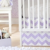 Zig Zag Baby Crib Skirt in Lavender