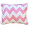 Zig Zag Baby Throw Pillow in Hot Pink