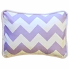 Zig Zag Baby Throw Pillow in Lavender
