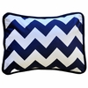 Zig Zag Baby Throw Pillow in Navy