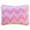 Zig Zag Baby Throw Pillow in Pink Sugar