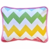 Zig Zag Baby Throw Pillow in Rainbow