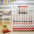 Zig Zag Baby Throw Pillow in Rugby