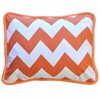 Zig Zag Baby Throw Pillow in Tangerine