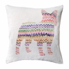Zig Zag Frenchie Throw Pillow