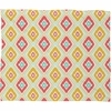 Zig Zag Ikat White Fleece Throw Blanket