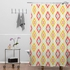 Zig Zag Ikat White Shower Curtain