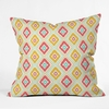Zig Zag Ikat White Throw Pillow
