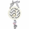 Zig Zag in Gray Monogram Barrette Holder