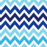 Zig Zag in Navy and Aqua