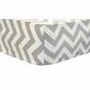 Zig Zag in Slate Baby Crib Sheet