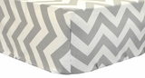 Zig Zag in Slate Baby Crib Sheet $(+42.00)