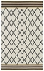 Zig Zag Nomad Rug in Ivory and Black