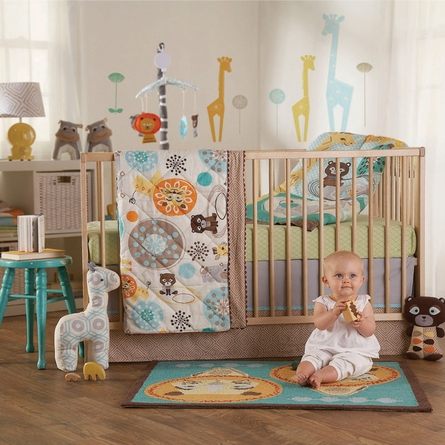 Zig Zag Zoo Crib or Toddler Quilt