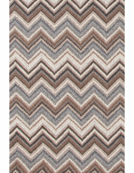 Zigzag Natural Wool Micro-Hooked Rug
