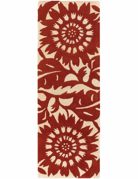 Zinnia Persimmon Cream Thomaspaul Rug