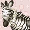 Zoey the Zebra Canvas Wall Art