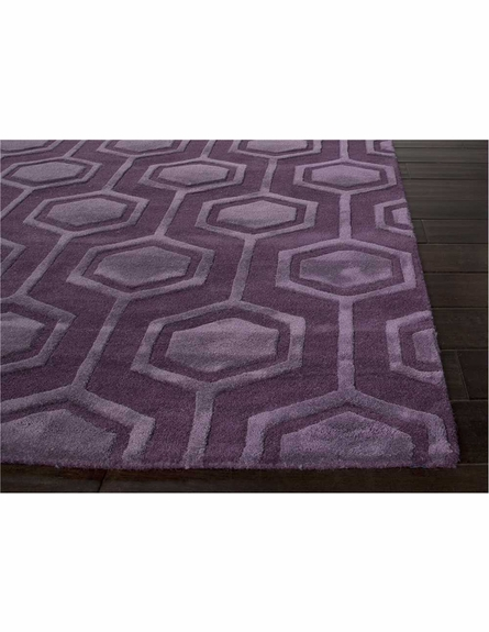 Zoltan Rug in Tulip Purple