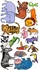 Zoo Creatures Peel & Place Wall Stickers