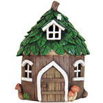 "10.5"" Solar Leaf House Statue"