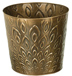 "10"" Bronze Lotus  Metal Planters (Set of 4)"