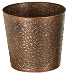 "10"" Medallion Metal Planters (Set of 4)"
