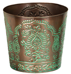 "10"" Paisley Metal Planters (Set of 4)"