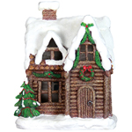 "11.5"" LED Holiday Cottage with Timer"