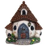 "11"" Solar Pinecone Fairy Cottage"