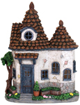 "12.5"" Solar Pinecone Cottage House"