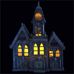 "12"" LED Haunted Mansion"