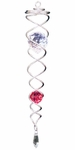 """13"""" Silver/Red Crystal Twister"""