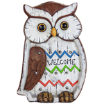 "13"" Solar Owl LED Marquee Statue"
