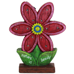 "14"" Solar Red Flower LED Marquee Statue"