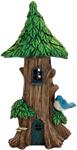 "14"" Solar Tree Home w/Bird"