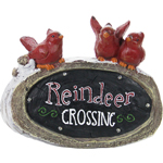 "16"" LED ""Reindeer Crossing"" Statue"