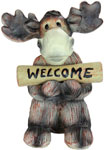 "16"" Welcome/Go Away Moose Statue"