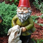 "18"" BobbleHead Rabbit Gnome"