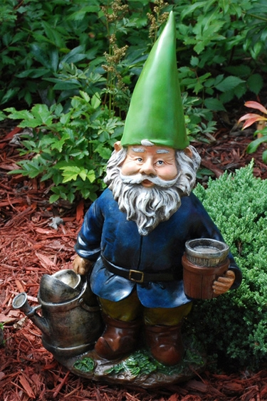 "Funny Garden Gnomes: 18"" BobbleHead Watering Gnome Only $36.99 At Garden Fun"