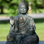 "18"" Sitting Buddha - Frosted Bronze"