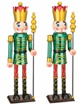 "19"" Green Toy Soldiers w/Club (Set of 2)"