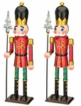 "19"" Red Toy Soldiers w/Spear (Set of 2)"