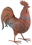 "19"" Rusty Rooster Decor"