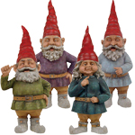 "20"" Toad Hollow Gnomes (Set of 4)"