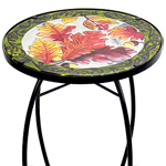 "21"" Glass Table - Harvest Fall Leaves"