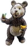 "21"" Woodland Bear w/Birds"