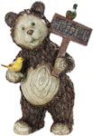 "21"" Woodland Bear w/Welcome Sign"