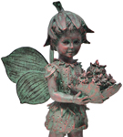 "22"" Strawberry Fairy Statue"